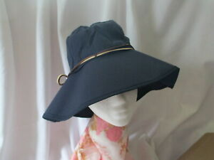 ***Ladies Full Wide Brim Hat~ Sun Shade Cover~ W/Chin Strap/Removable~Adjust Sz