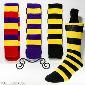 Socks Adult Clown/Jester Stripe Knee High Socks One Size Assorted Colors