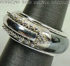 Hematite Sterling Silver 0.925 Estate Band RING size 4