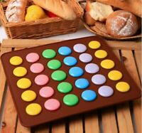 Silicone Macaron Pastry Oven Baking Mould Sheet Mat DIY Mold Tray 30 Cavity