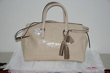 Coach Legacy Embossed Crocodile Alligator Leather Satchel Tote Bag