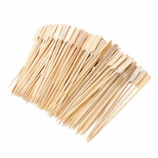 "Bamboo Skewers Barbecue Wooden Sticks For BBQ Fruit Tools 100 Pcs/6 "" Paddle"