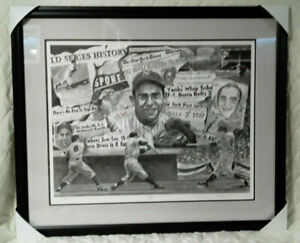 Yogi Berra autographed / signed Lithograph Limited Edition with COA