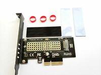 M.2 NGFF NVMe SSD PCIE Adapter Card (M Key) with Heatsink Thermal Pad