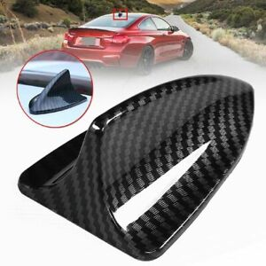 1pcs Shark Fin Car Roof Antenna Decorative Aerial Carbon Fiber Style Universal