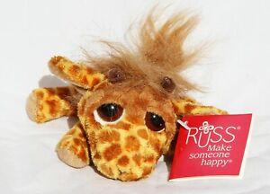 Brand new Russ Berrie plush Leda Giraffe 15cm Luv Pets animal Soft