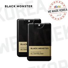 BLACK MONSTER Oil Control Mist 2ea Set Anti Sebum Moisturizer Authentic K-Beuaty