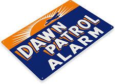 TIN SIGN Dawn Patrol Alarm Retro Aviation Sign Garage Shop Store Cave A049