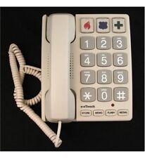 Cortelco 240085-VOE-21F Big Button Braille Landline Telephone Sandstone ITT-2400