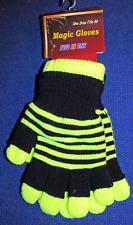 Magic Stripy Niños Guantes Luminoso Amarillo Talla única completo o sin dedos
