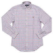 Polo Ralph Lauren Mens Oxford Shirt Slim Fit Stretch Buttondown Long Sleeve New