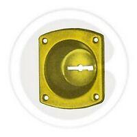 bocchetta dorata CR per serratura di sicurezza bocchette incavo 12 mm
