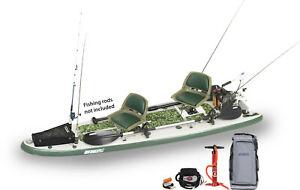 Sea Eagle FS126 Ultimate 2 Person Pkg SUP 2 Fish Rigs, Motor, Pwr Cntr BP12 Pump