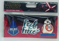 Disney Collectible Pins STAR WARS RESISTANCE FEEL THE FORCE  Carded Set of 3