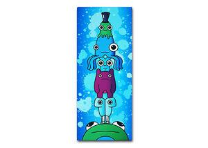 ~Creature Totem - 20cm x 50cm - Urban Graffiti Canvas. Kidrobot, street monster~