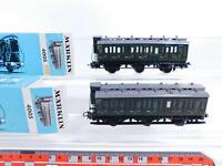 CQ789-0,5# 2x Märklin H0/AC 4005 Abteilwagen/Personenwagen 330/2, sehr gut+OVP
