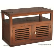 TV Cabinet, Small TV Stand, Mahogany Medium Solid Timber, W90xD50xH60, ETU