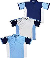 Mens Short Sleeve Polo Shirt 2 Tone Design Big Sizes 2XL 3XL 4XL 5XL
