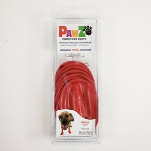 Protex Pawz Natural Rubber Dog Boats Small Red Disposable Reusable Waterproof