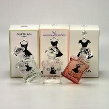 3 X Guerlain LA PETITE ROBE NOIRE EDP EDT EAU FRAICHE Miniature Perfume Bottles
