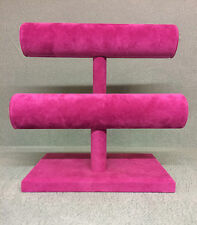 Double Bangle/Bracelet Jewellery Stand (fuchsia pink)