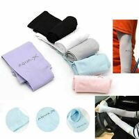 2x Cooling Arm Sleeves Stretch Sports Sun UV Protection Covers Cycling Golf AU