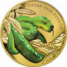 Niue 2019 Green Tree Python Remarkable Reptiles $100 1 Oz Pure Gold Color Proof