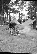 Foto-Negativ, Napola, Jugendgruppe zeltet im Wald , 5026-495/23