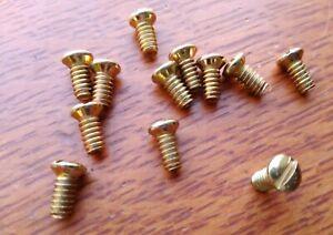 Twelve New Brass-Plated Door Knob Screws for Antique Doorknobs