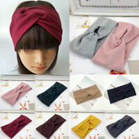 Women Sports Cotton Headband Twist Hairband Bow Knot Cross Tie Hair Band Hoop