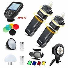 2X Godox AD200 TTL HSS Blitz + XPro-C für Canon + AD-B2 + Reflektor Filter Kappe