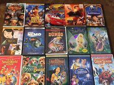 Lot Of 15 Disney Dvds , Pixar , Lion King , Mulan, Pocahontas