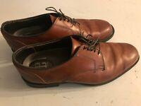 Allen Edmonds Provo Derby Shoes 4274 Leather Brown Size 9 D Rubber Soles