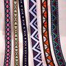 Stripe Wave Crochet Fringe Embroidery Jacquard Ribbon Braid Lace Trim Crafts