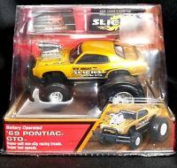 New Bright Slicks Muscle '69 Pontiac GTO.Battery Operated w/ Racing Tires NIB!