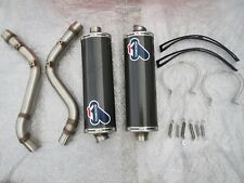 DUCATI MONSTER S4 TERMIGNONI CARBON CANS & LINK PIPES NEW