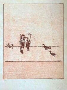 "MAX ERNST La ballade du soldat"" Original Lithograph S/N"
