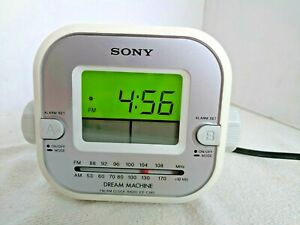 Rare VTG SONY Dream Machine ALARM Clock AM/FM Radio ICF-C180 Retro White TESTED