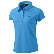 adidas Women's Light Premium Poly Short Sleeve Sports Fitness Collared polo D81