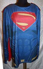 Superman Super Hero Costume Shirt One Size XL w/ Cape Unisex