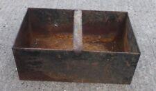 alte Trage Kiste Kohlenkiste 🌼 Fach von Herd Feuerherd rostig Box Eisenkiste 🐥