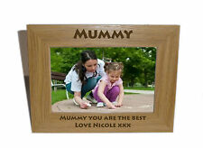 Mummy Wooden Photo Frame 7x5 - Personalise this frame - Free Engraving