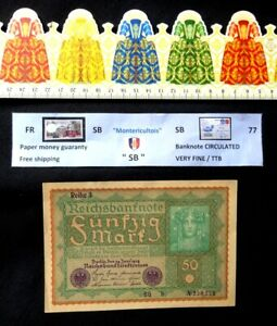 (GB), Banknote, 50 Mark, Germany, Year : 1919.