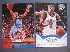 (2) Russell Westbrook Card Lot 2013-14 Prestige #49/2009-10 Upper Deck #134