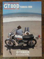 Yamaha GT80D  Sales Brochure,  1977 Original NOS