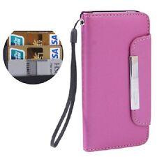 Housse portefeuille avec porte cartes et lanière pour iPhone 5 et iPhone 5S rose