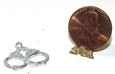 Dollhouse Miniature Handcuffs Metal Sheriff Island Crafts Minis 1:12 Scale