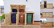 More details for outdoor wheelie bin store cupboard shed for garden storage dustbin