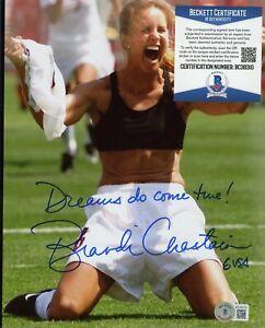 Brandi Chastain Soccer Signed 8x10 Photo AUTO Autograph Beckett BAS COA