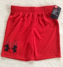 Nwt Under Armour Boys Shorts Red Size 4 Retail $18